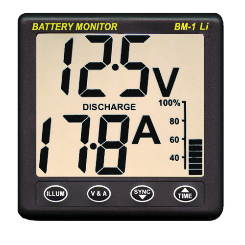 Clipper BM-1 LI Battery Monitor f\/12V Lithium [BM-1 LI]