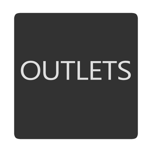 Blue Sea 6520-0333 Square Format Outlets Label [6520-0333]