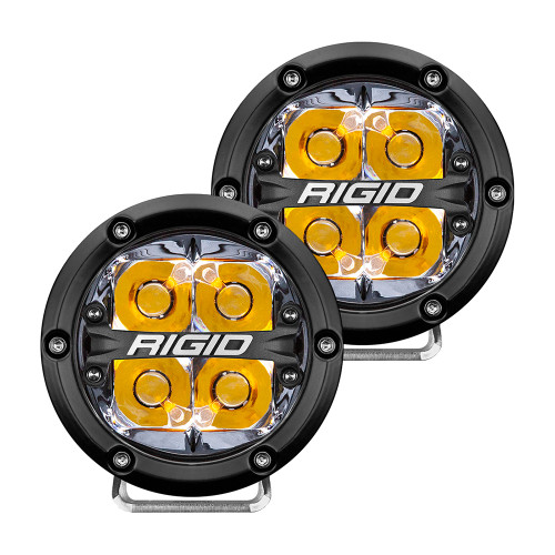"RIGID Industries 360-Series 4"" LED Off-Road Spot Beam w\/Amber Backlight - Black Housing [36114]"
