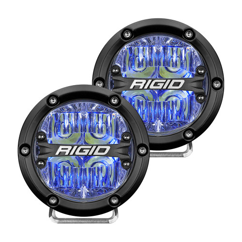 "RIGID Industries 360-Series 4"" LED Off-Road Fog Light Drive Beam w\/Blue Backlight - Black Housing [36119]"