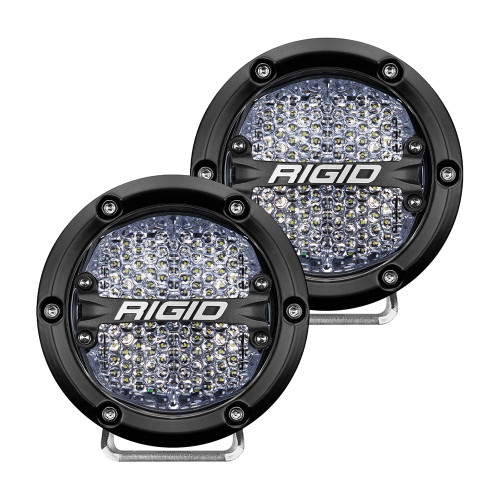 "RIGID Industries 360-Series 4"" LED Off-Road Fog Light Diffused Beam w\/White Backlight - Black Housing [36208]"