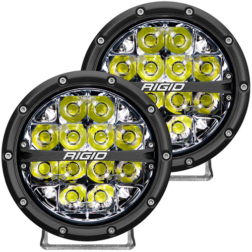 "RIGID Industries 360-Series 6"" LED Off-Road Fog Light Spot Beam w\/White Backlight - Black Housing [36200]"
