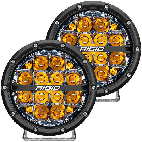 "RIGID Industries 360-Series 6"" LED Off-Road Fog Light Spot Beam w\/Amber Backlight - Black Housing [36201]"