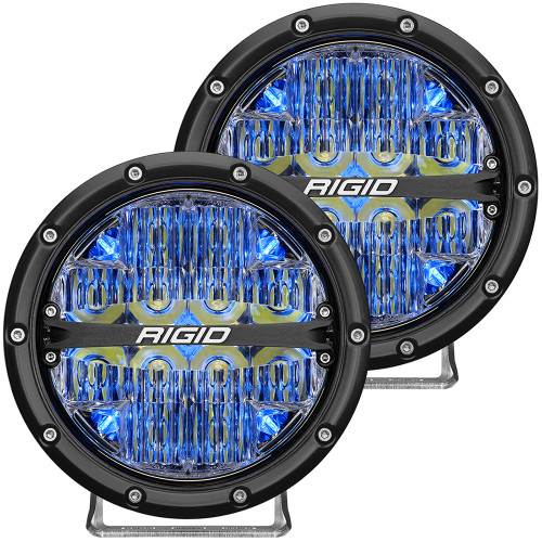 "RIGID Industries 360-Series 6"" LED Off-Road Fog Light Spot Beam w\/Blue Backlight - Black Housing [36202]"