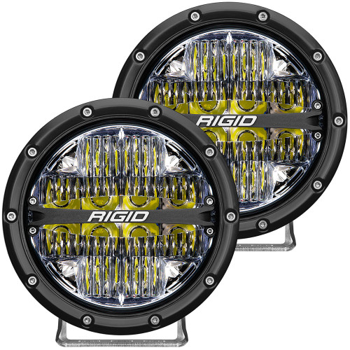 "RIGID Industries 360-Series 6"" LED Off-Road Fog Light Drive Beam w\/White Backlight - Black Housing [36204]"