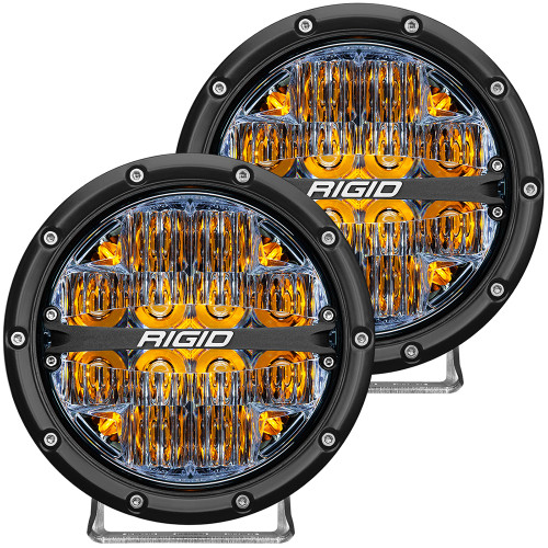 "RIGID Industries 360-Series 6"" LED Off-Road Fog Light Drive Beam w\/Amber Backlight - Black Housing [36206]"