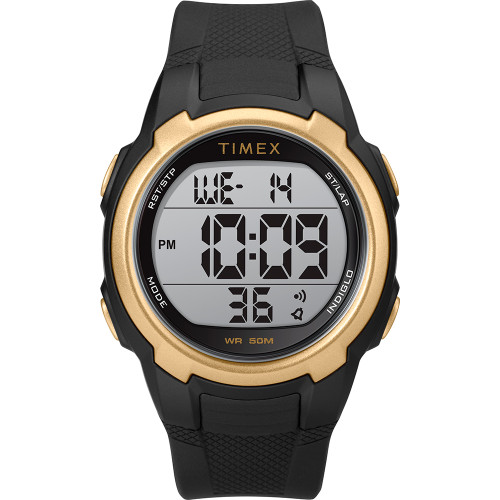 Timex T100 Black\/Gold - 150 Lap [TW5M33600SO]