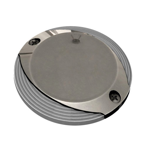 Lumitec Scallop Pathway Light - Warm White - Stainless Steel Housing [101629]