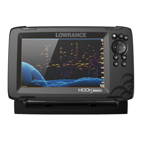 Lowrance HOOK Reveal 7 Chartplotter\/Fishfinder w\/SplitShot Transom Mount Transducer  US Inland Charts [000-15512-001]
