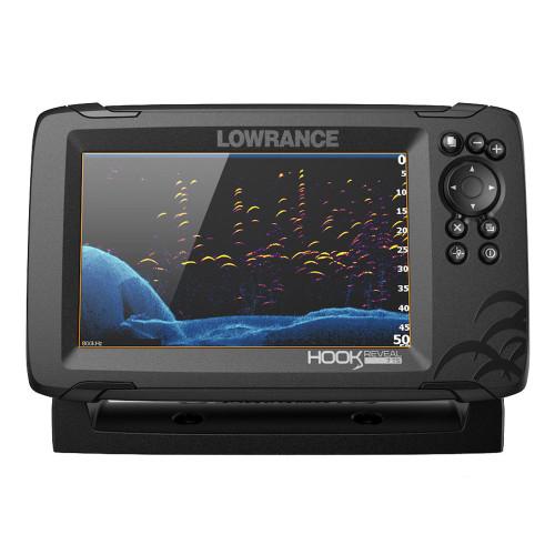 Lowrance HOOK Reveal 7 Chartplotter\/Fishfinder w\/TripleShot Transom Mount Transducer  US Inland Charts [000-15513-001]