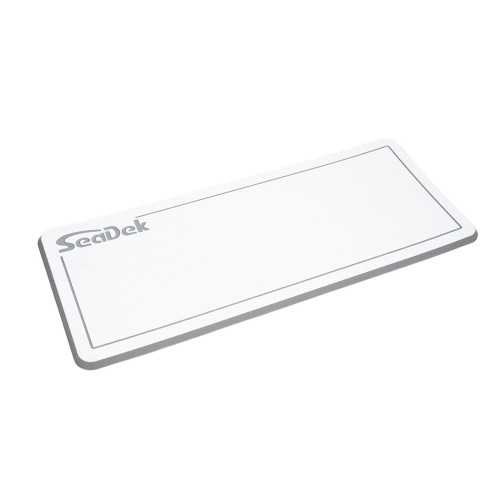 "SeaDek Dual Density Helm Pad - 14"" x 36"" 20mm - Small - White w\/Storm Gray Laser SD Logo [37925-80375]"