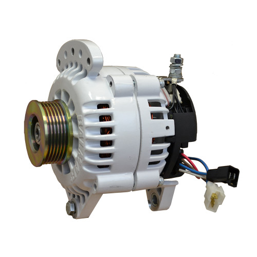 "Balmar Alternator 100 Amp 12V 3.15"" Dual foot Saddle Single K6 Pulley w\/Isolated Grounding [60-120-K6]"