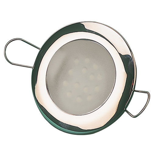 "Sea-Dog LED Overhead Light 2-7\/16"" - Brushed Finish - 60 Lumens - Frosted Lens - Stamped 304 Stainless Steel [404332-3]"