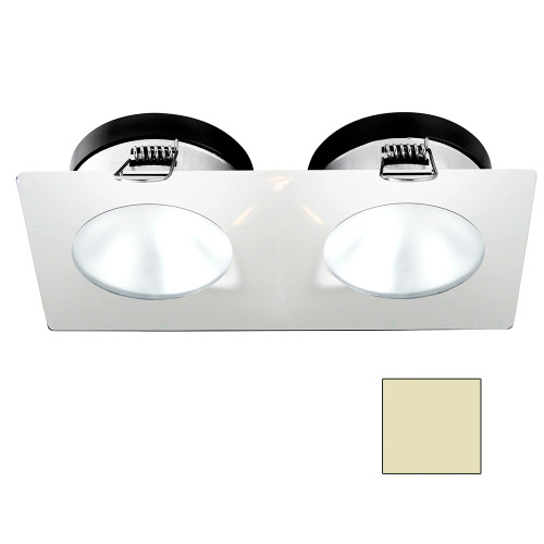 i2Systems Apeiron A1110Z - 4.5W Spring Mount Light - Double Round - Warm White - White Finish [A1110Z-35CAB]
