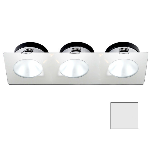 i2Systems Apeiron A1110Z - 4.5W Spring Mount Light - Triple Round - Cool White - White Finish [A1110Z-36AAH]