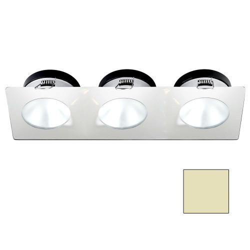 i2Systems Apeiron A1110Z - 4.5W Spring Mount Light - Triple Round - Warm White - White Finish [A1110Z-36CAB]