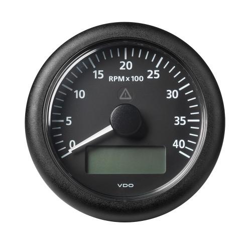 "VDO Marine 3-3\/8"" (85MM) Viewline Tach w\/Multifunction Display - 0 to 4000 RPM - Black Dial  Bezel [A2C59512391]"