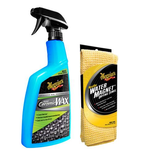 """Meguiars Hybrid Ceramic Wax w\/Water Magnet Microfiber Drying Towel - 22"""" x 30"""" [G190526-X2000KIT]"""