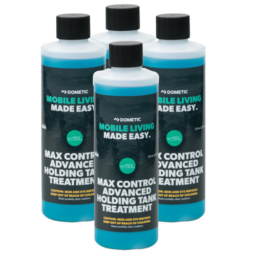 Dometic Max Control Holding Tank Deodorant - Four (4) Pack of Eight (8)oz. Bottles [379700029]