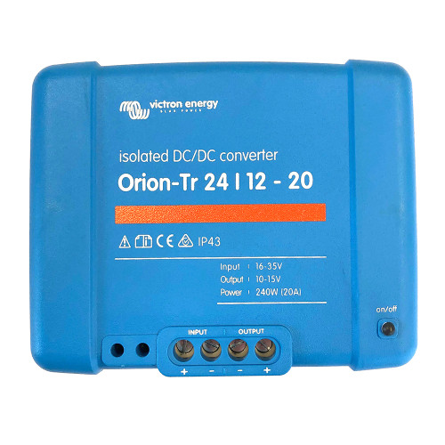 Victron Orion-TR DC-DC Converter - 24 VDC to 12 VDC - 20AMP Isolated [ORI241224110]