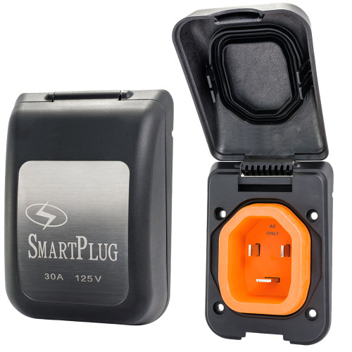 SmartPlug 30 Amp Non Metallic Black Inlet - Boat  RV Side [BM30PB]