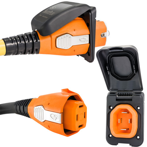 SmartPlug 50 Amp Non Metallic Black Inlet  Plug Combo - Boat  RV [B50ASSYPB]