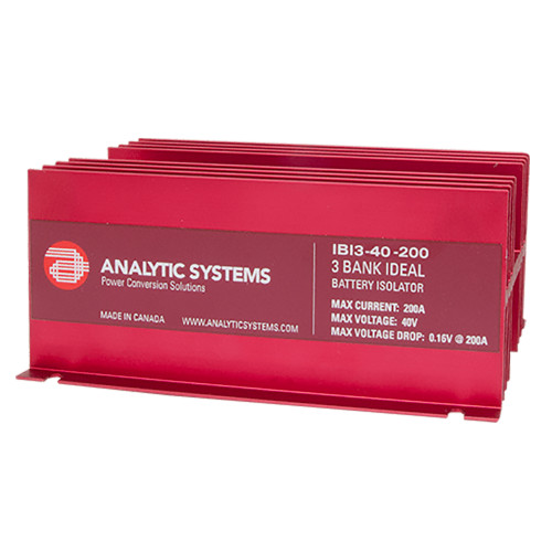 Analytic Systems 200A, 40V 3-Bank Ideal Battery Isolator [IBI3-40-200]