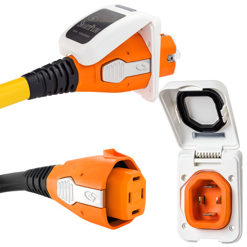 SmartPlug 50 Amp Non Metallic White Inlet  Plug Combo - Boat  RV [B50ASSYPW]