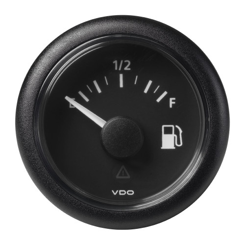 "VDO Marine 2-1\/16"" (52mm) ViewLine Fuel Level Gauge Empty-Full - 8-32V - 0-90 OHM - Black Dial  Round Bezel [A2C59514085]"