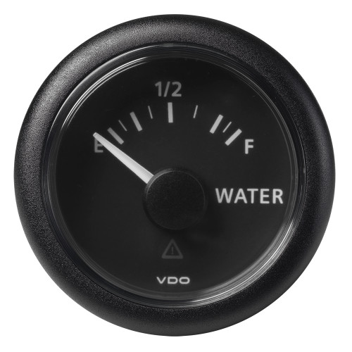 "VDO Marine 2-1\/16"" (52mm) ViewLine Fresh Water Resistive 0-1\/1 - 8-32V - 3-180 OHM - Black Dial  Round Bezel [A2C59514099]"