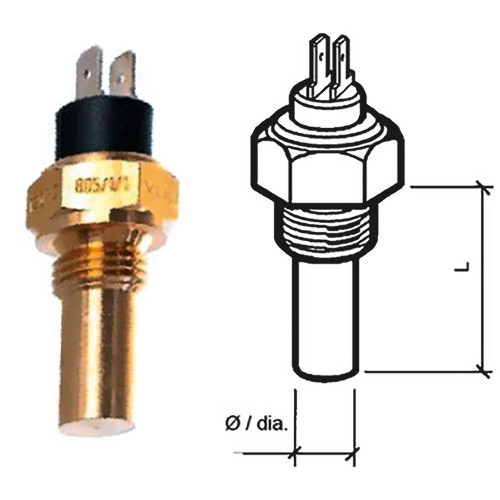 VDO Marine Coolant Temperature Sensor - Dual-Pole, Insulated RTN - 40-120C\/105-250F - 6-24V - M18 x 1.5 Thread [323-805-001-015N]