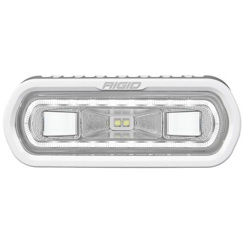 RIGID Industries SR-L Series Marine Spreader Light - White Surface Mount - White Light w\/White Halo [51100]
