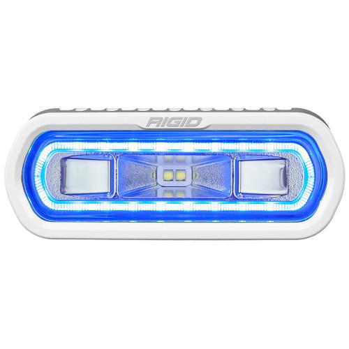 RIGID Industries SR-L Series Marine Spreader Light - White Surface Mount - White Light w\/Blue Halo [51101]
