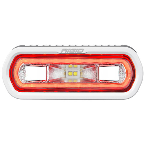 RIGID Industries SR-L Series Marine Spreader Light - White Surface Mount - White Light w\/Red Halo [51102]