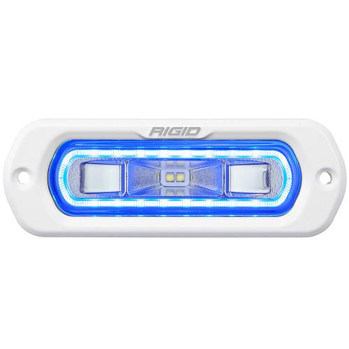 RIGID Industries SR-L Series Marine Spreader Light - White Flush Mount - White Light w\/Blue Halo [51201]