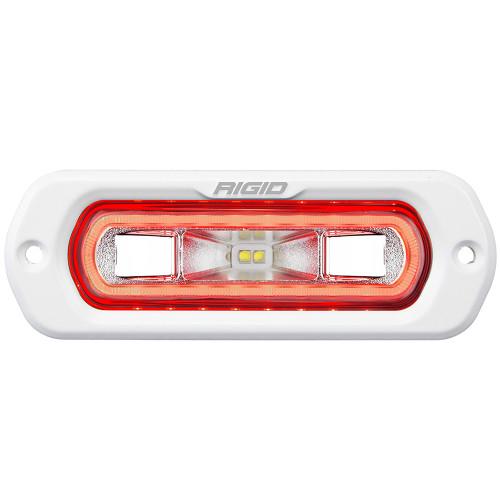 RIGID Industries SR-L Series Marine Spreader Light - White Flush Mount - White Light w\/Red Halo [51202]