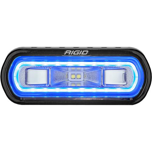 RIGID Industries SR-L Series Marine Spreader Light - Black Surface Mount - White Light w\/Blue Halo [52101]