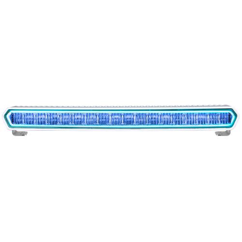 "RIGID Industries SR-L Series Marine 20"" White LED Lightbar - White Light w\/Blue Halo [62001]"