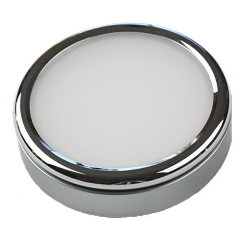 Lunasea Polished Puck Surface Mount Light - Warm White - 12\/24VDC [LLB-33VW-81-OT]