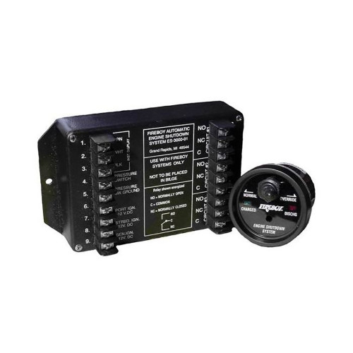 Xintex 8 Circuit Engine Shutdown w\/Time Delay - Round Display [ES-8015-01]