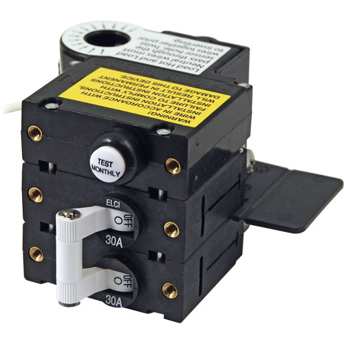 Blue Sea A-Series ELCI Main Circuit Breaker - Double Pole 120V AC 30A [3106100]