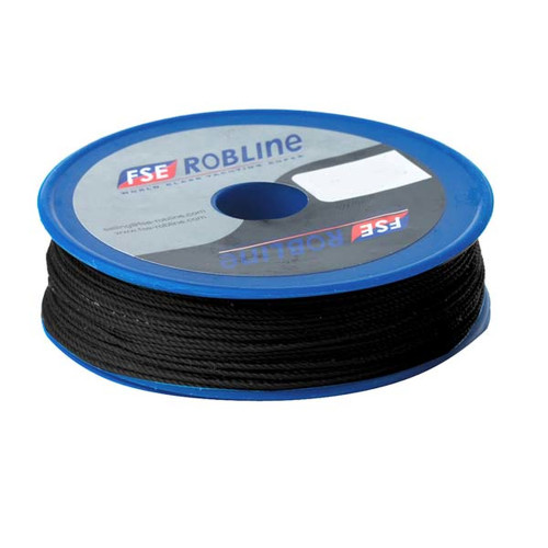 Robline Waxed Tackle Yarn - 0.8mm x 40M - Black [TYN-08BLKSP]