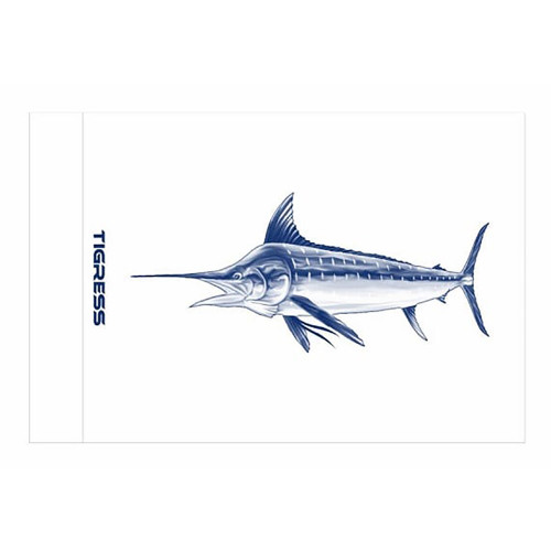 "Tigress White Marlin Release Flag - 12"" x 18"" [88421]"