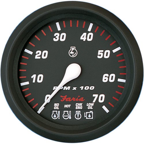 "Faria Professional Red 4"" Tachometer - 7,000 RPM w\/System Check [34650]"