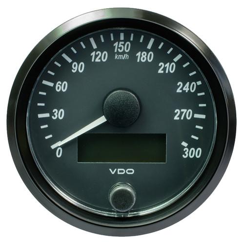 "VDO SingleViu 80mm (3-1\/8"") Speedometer - 300 KM\/H [A2C3832950030]"