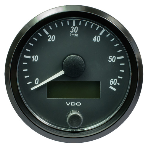 "VDP SingleViu 80mm (3-1\/8"") Speedometer - 60 KM\/H [A2C3832890030]"