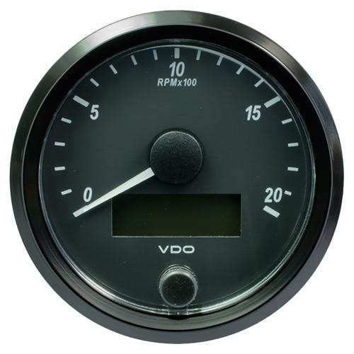 "VDO SingleViu 80mm (3-1\/8"") Tachometer - 2000 RPM [A2C3832960030]"