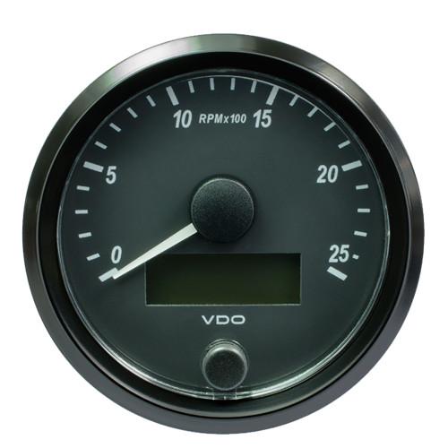 "VDO SingleViu 80mm (3-1\/8"") Tachometer - 2500 RPM [A2C3832970030]"