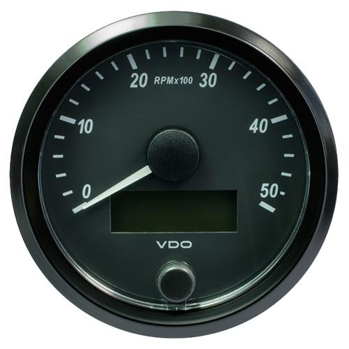 "VDO SingleViu 80mm (3-1\/8"") Tachometer - 5000 RPM [A2C3833000030]"