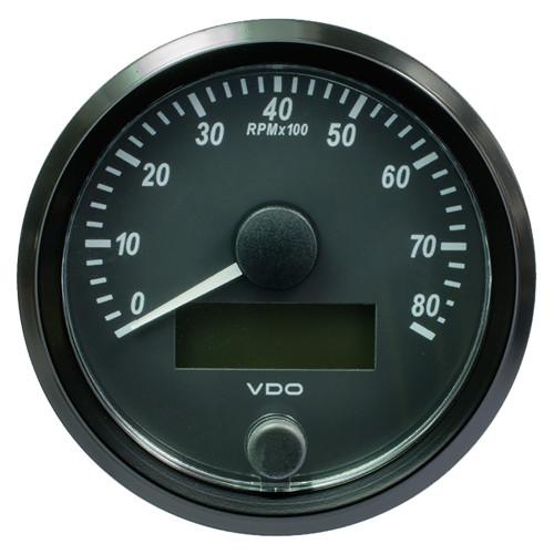 "VDO SingleViu 80mm (3-1\/8"") Tachometer - 8000 RPM [A2C3833020030]"